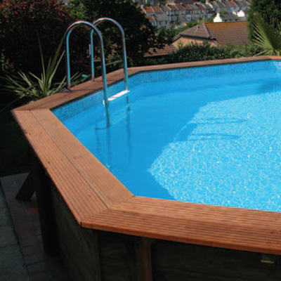 Attractive Plastica 5.1m X 7.5m Eco Stretched Octagonal Wooden Pool